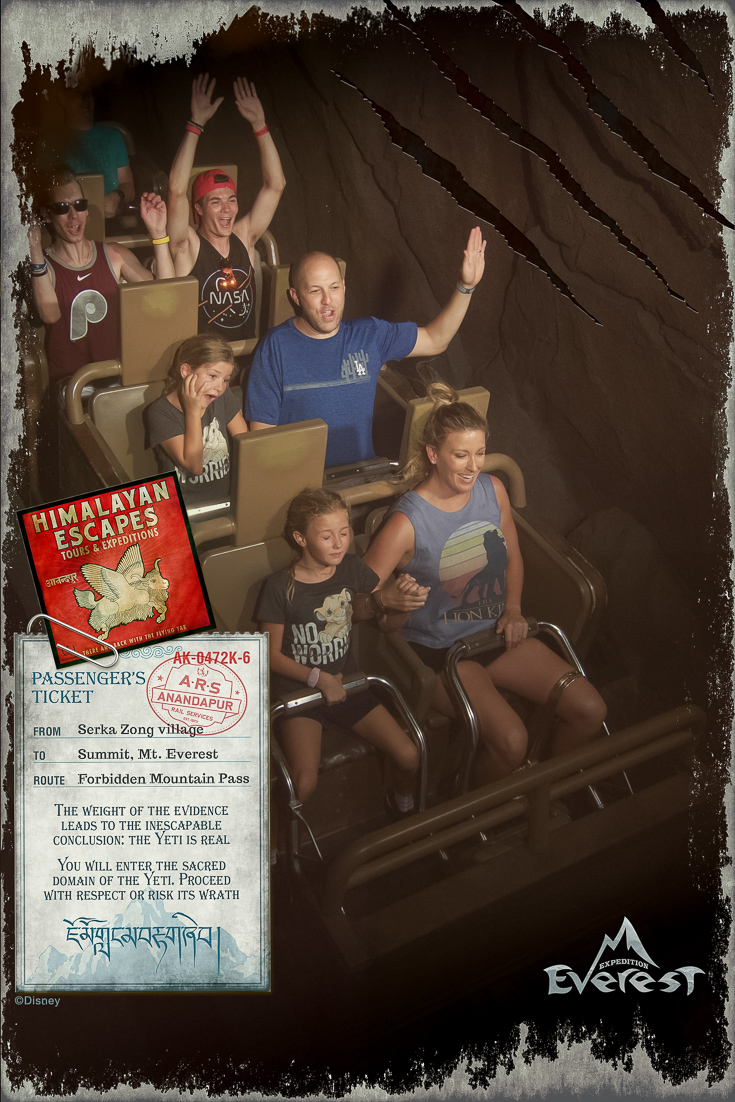 One of the must ride rides in Animal Kingdom is Expedition Everest.