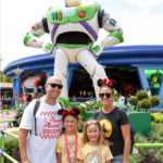 Popular US Travel Blogger, The Fashionista Momma shares her tips to Disney HollywoodStudios with kids; mom and daughters at Sci-Fi Dine-in Theater in Hollywood Studios; family at Toy Story Land in Hollywood Studio