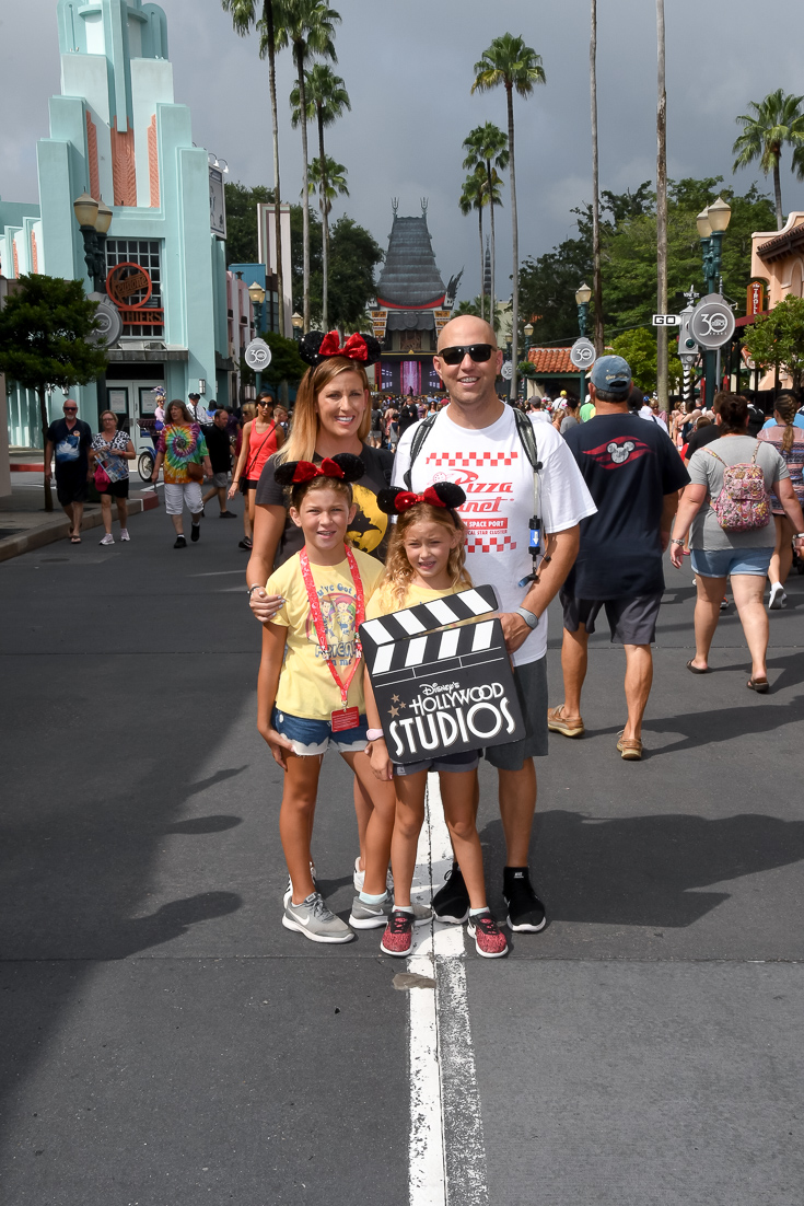 Travel Guide To Disney Hollywood Studios With Kids featured by popular US Family Travel blogger, The Fashionista Momma; family at Disney Hollywood Studios