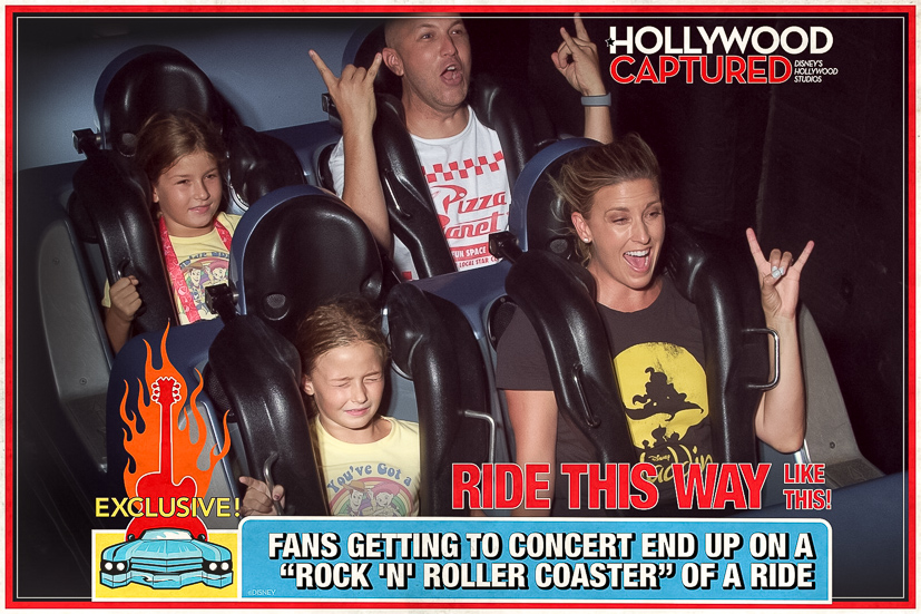 Popular US Travel Blogger, The Fashionista Momma shares her tips to Disney HollywoodStudios with kids; mom and daughters at Sci-Fi Dine-in Theater in Hollywood Studios; family on Rock Roller Coaster