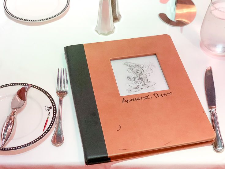 The Ultimate Disney Cruise Guide featured by Top US travel blog, The Fashionista Momma; Menu from Animator's Palate on Disney Dream