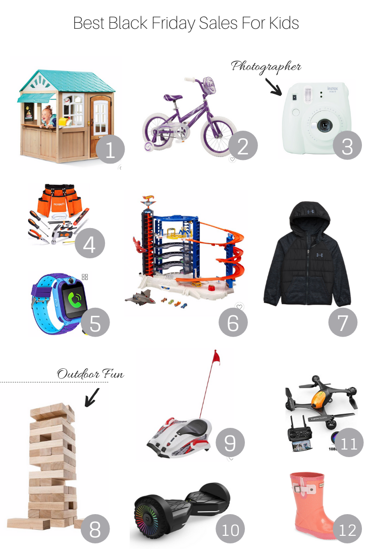 Best Black Friday Sales For Kids featured by Popular US Style Blogger, The Fashionista Momma: gift guide including outdoor playsets and toys.