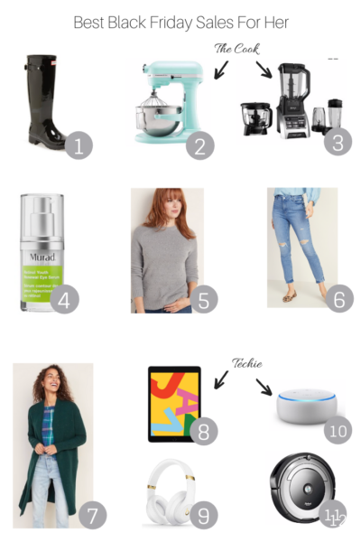 Best Black Friday Sales For Women featured by Popular US Style Blogger, The Fashionista Momma; collage of Black Friday sales items for women.