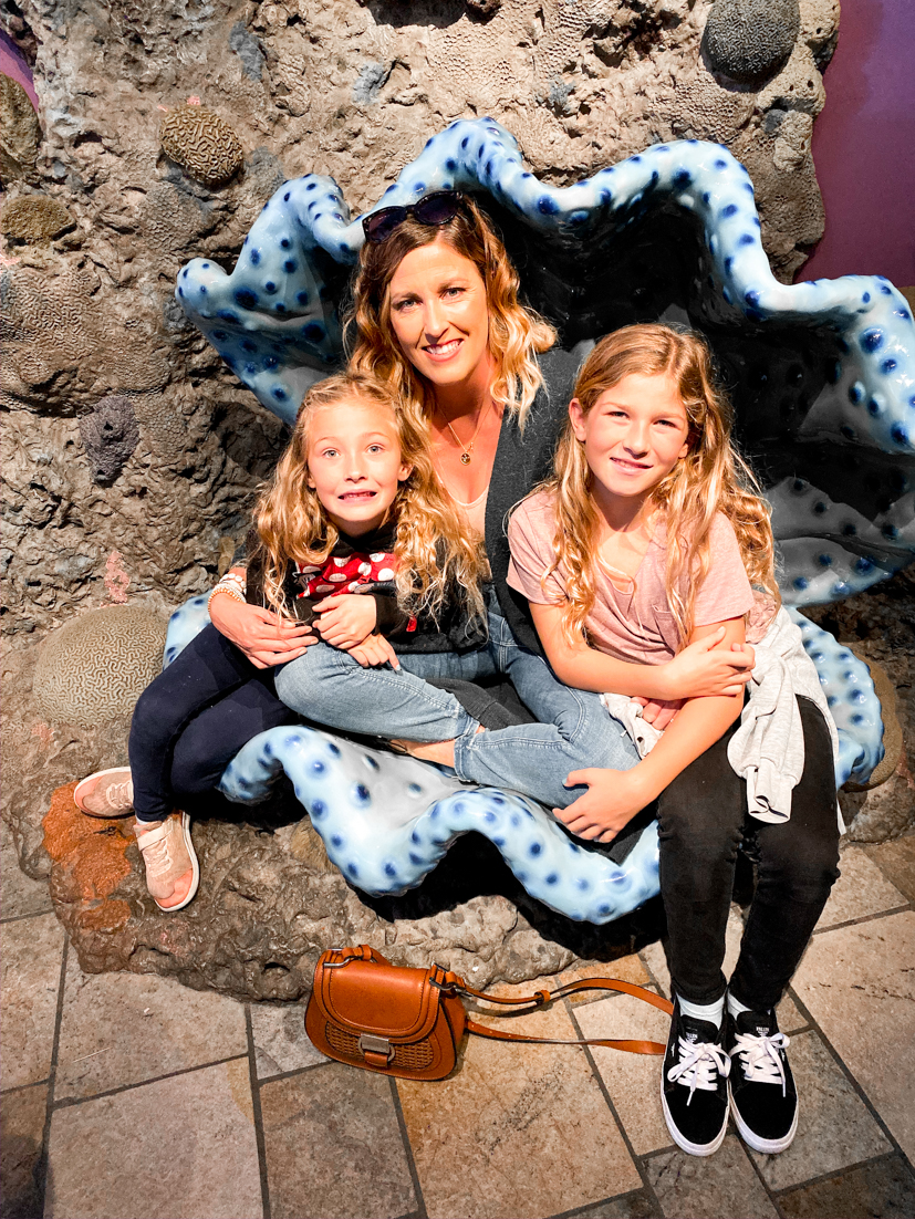 The Ultimate San Diego To San Francisco Road Trip For The Holidays featured by Top Family Travel Blog, The Fashionista Momma; Family at Monterey Bay Aquarium