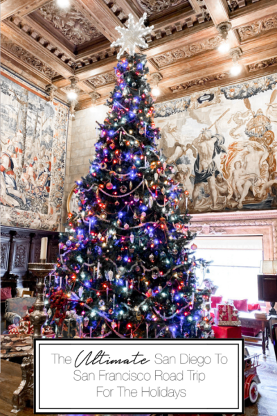The Ultimate San Diego To San Francisco Road Trip For The Holidays featured by Top Family Travel Blog, The Fashionista Momma; Hearst Castle Tree