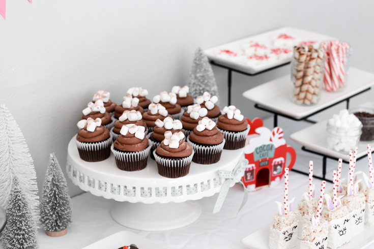 How To Host A Kids Ugly Sweater Birthday Party featured by top US Party Blog, The Fashionista Momma; Hot Cocoa Cupcakes