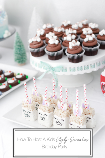 How To Host A Kids Ugly Sweater Birthday Party featured by top US Party Blog, The Fashionista Momma; Winter Birthday Tablescape