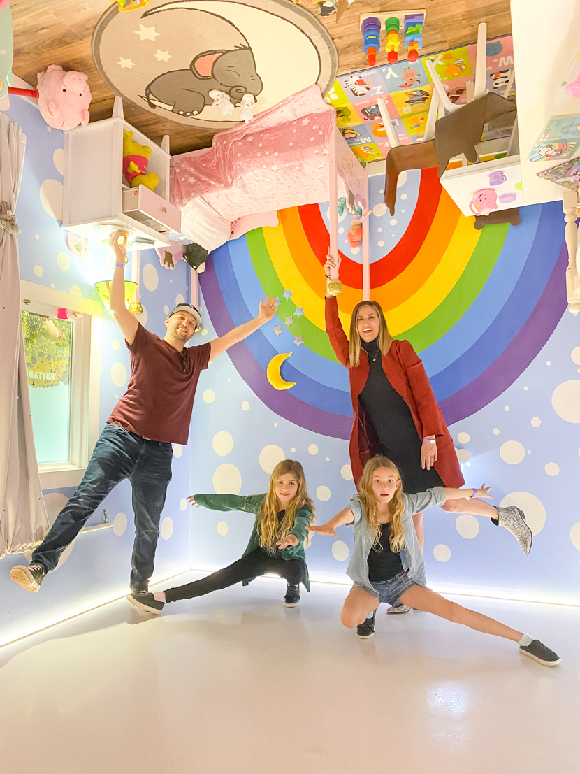 The Ultimate SoCal Staycation featured by Popular US Travel Blog, The Fashionista Momma; family at The Upside Down House