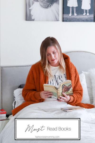 Must Read Books during social distancing featured by popular US Lifestyle Blogger, The Fashionista Momma; woman in bed reading a book