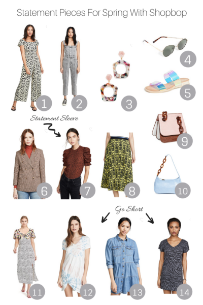 Statement Pieces For Spring With Shopbop featured by The Fashionista Momma; Shopbop Sale Collage featuring Statement Pieces under $150