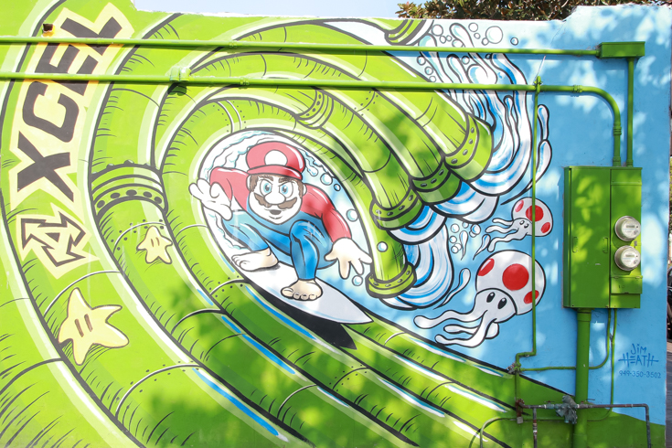 Carlsbad Mural Walk featured by Popular US Family Travel Blog, The Fashionista Momma; Carlsbad Pipeline Art.