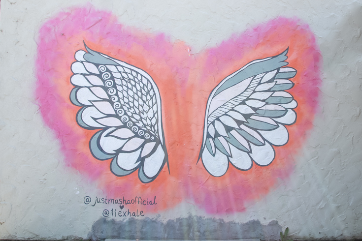 Carlsbad Mural Walk featured by Popular US Family Travel Blog, The Fashionista Momma; Wings Mural Art