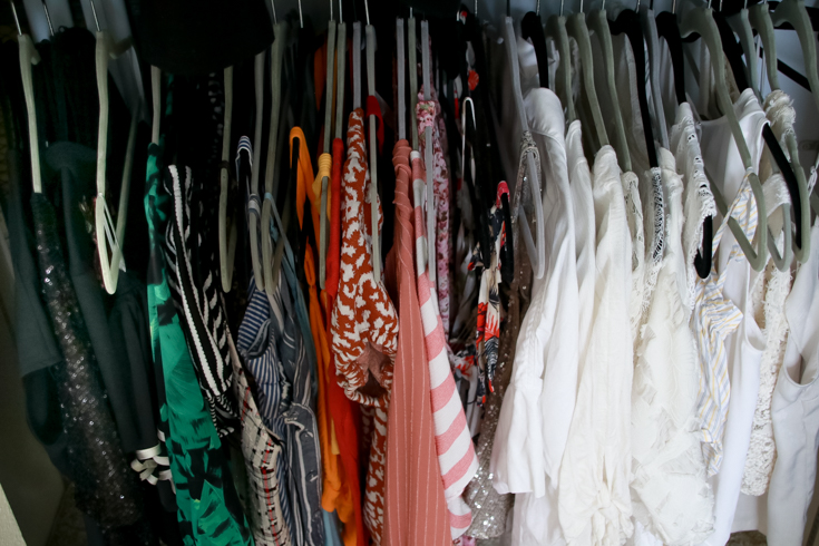 How To Organize Your Closet For A Small Space featured by popular US Style Blogger, The Fashionista Momma; organized closet.