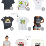 Must Have Graphic Tees featured by popular US Style Blogger The Fashionista Momma; collage of graphic t-shirts.