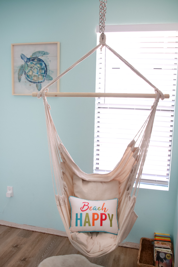 5 Tips To Decorating Your Home On A Budget featured by popular US Home Decor Blogger, The Fashionista Momma; hammock in bedroom