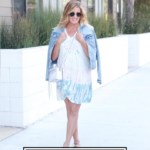 How To Wear Tie Dye In Your 30's featured by popular US Style Blogger, The Fashionista Momma; woman wearing tie dye dress from Shopbop.