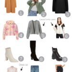 Must Have Transitional Pieces For Fall featured by popular US Style Blogger, The Fashionista Momma; collage of the perfect items for fall.