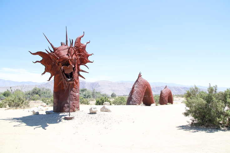 Best Day Trips From San Diego featured by Top US Travel Blog, Style & Wanderlust; Jeep Statue in Borrego Springs.