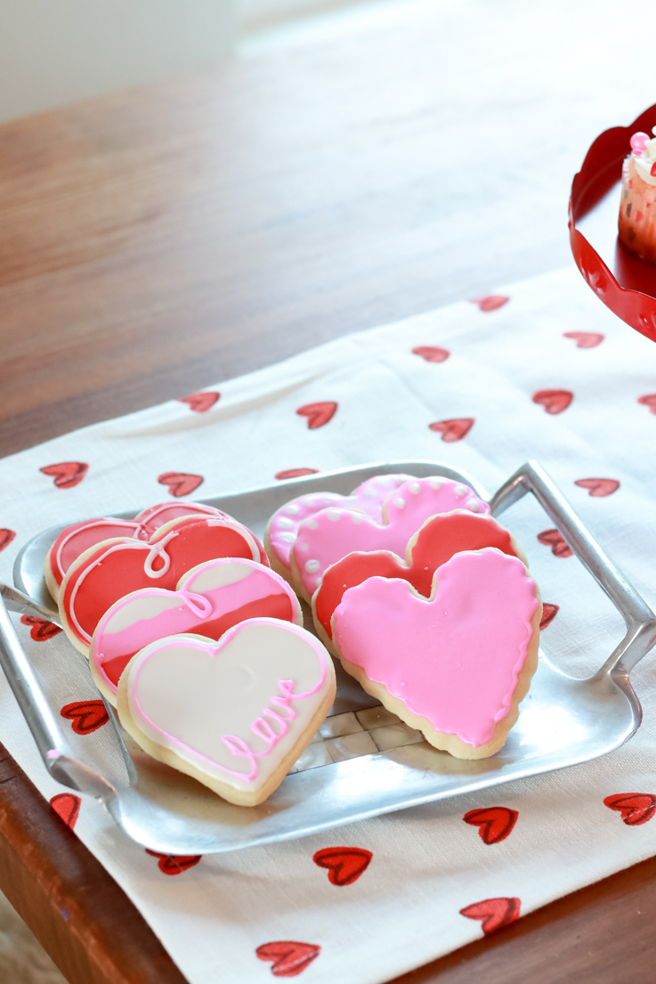 The Perfect Galentine's Day featured by Top US Party Blogger, Style And Wanderlust; Handmade Sugar Cookies