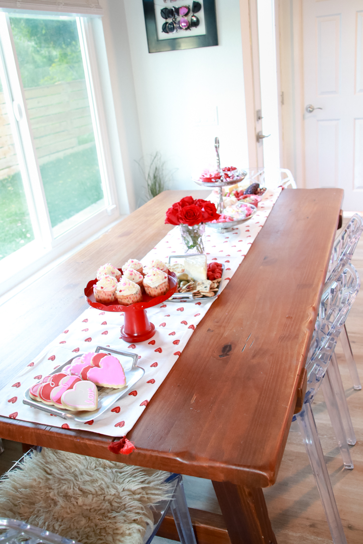 The Perfect Galentine's Day featured by Top US Party Blogger, Style And Wanderlust; Valentine's Day Tablescape