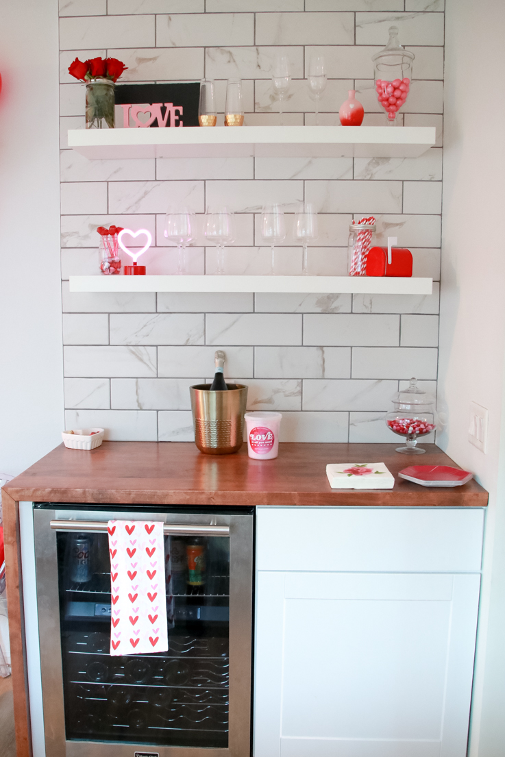 The Perfect Galentine's Day featured by Top US Party Blogger, Style And Wanderlust; Valentine's Day Bar Area