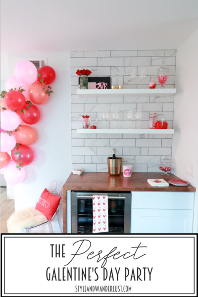 The Perfect Galentine's Day Party featured by Top US Party Blog, Style & Wanderlust.