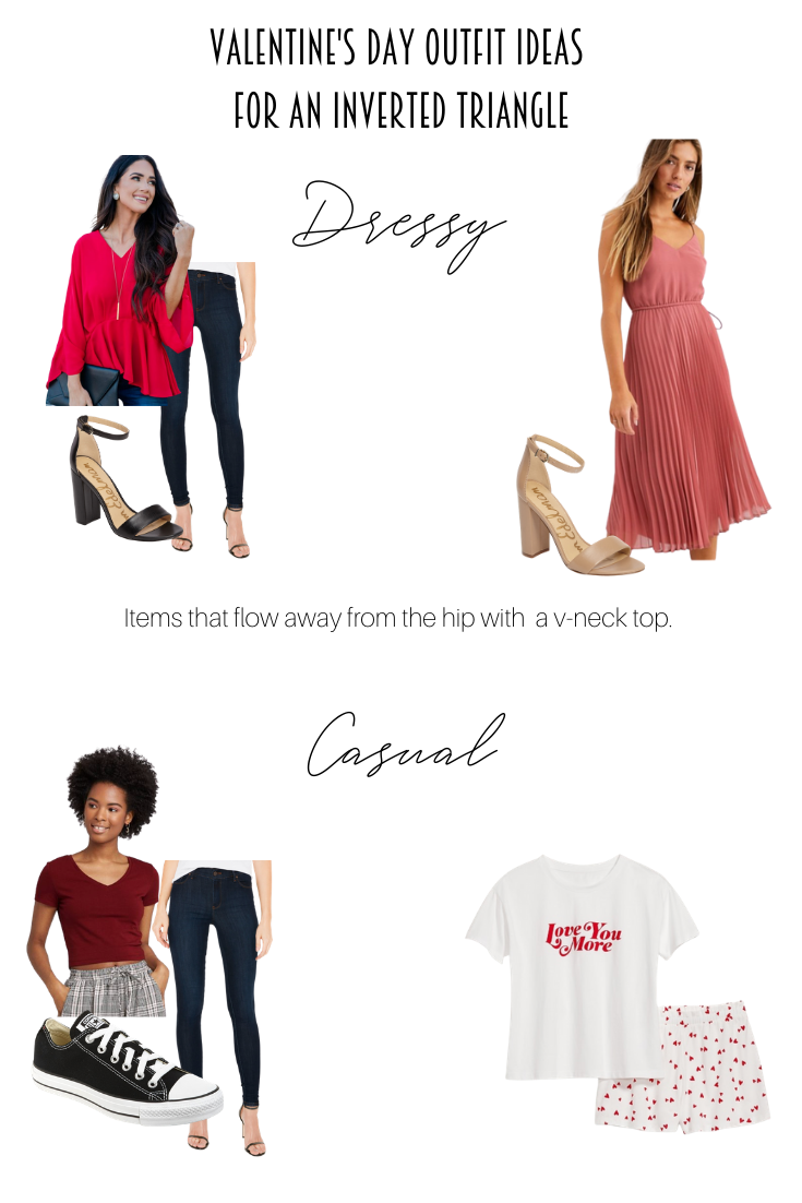 Lovely Valentine's Day Outfit Ideas for Every Body Shape featured by popular US Style Blogger, Style & Wanderlust; collage of rectangle body shape.