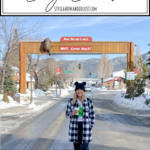 24 Hours In Big Bear featured by Top US Travel Blog, Style & Wanderlust; woman standing in downtown Big Bear.