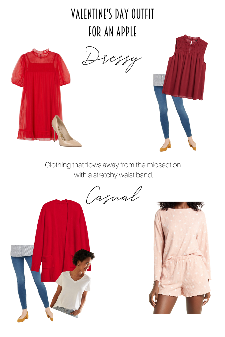 Lovely Valentine's Day Outfit Ideas for Every Body Shape featured by popular US Style Blogger, Style & Wanderlust; collage of pear body shape.