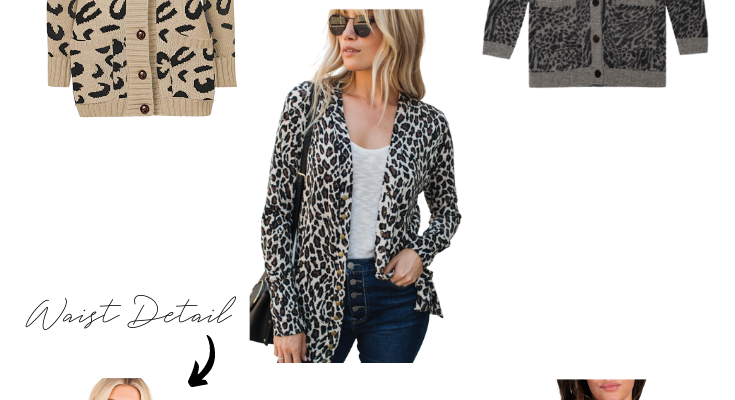 Leopard Print Cardigan For The Rectangle Body Shape