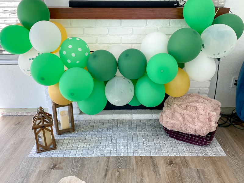The Perfect Family St. Patrick's Day party featured by Style & Wanderlust, popular US Party Blogger; custom photo booth