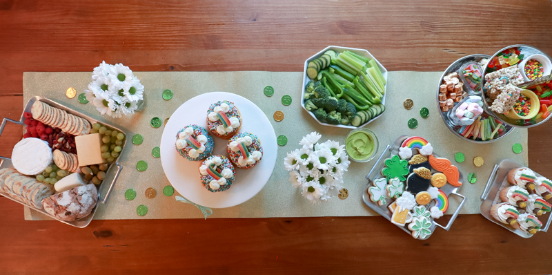The Perfect Family St. Patrick's Day party featured by Style & Wanderlust, popular US Party Blogger;  tablescape for St. Patrick's Day.