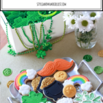 The Perfect Family St. Patrick's Day party featured by Style & Wanderlust, popular US Party Blogger; custom sugar cookies and candy platter.