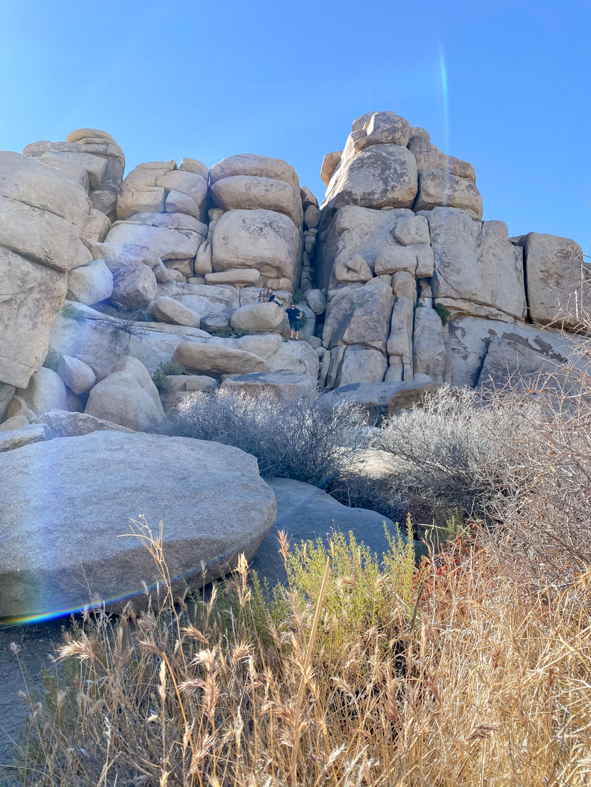 The Ultimate Day Trip To Joshua Tree National Park featured by popular US Travel Blogger, Style & Wanderlust; photo of rocks at cap rock