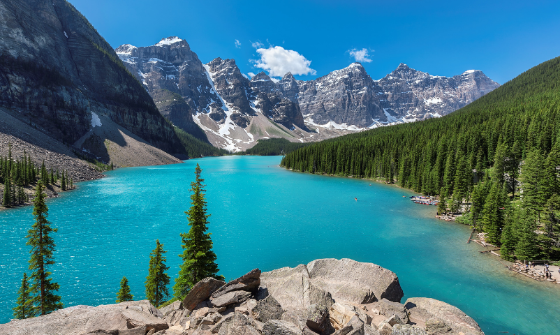 Top 5 Best Places to Travel After the Pandemic is Over featured by Top US Travel Blogger, Style And Wanderlust.  Banff National Park