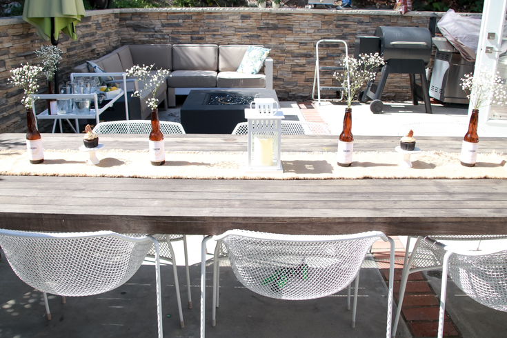 Pizza And Beer Party Essentials featured by Top US Party Blog, Style & Wanderlust; table decorations with custom beer bottles