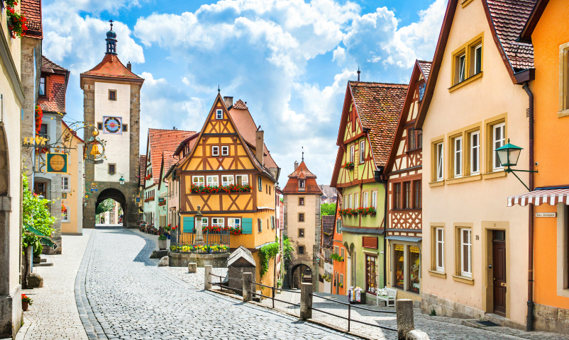 Top 5 Best Places to Travel After the Pandemic is Over featured by Top US Travel Blogger, Style And Wanderlust.  Street in Germany