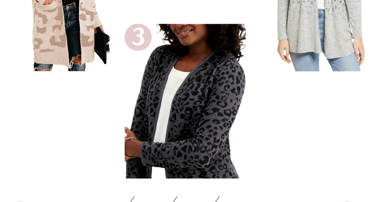 5 Leopard Print Cardigans for the Apple Shaped Body