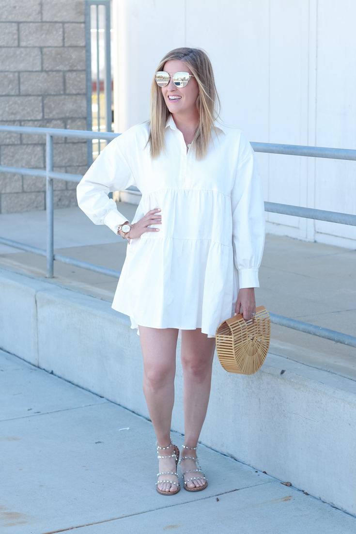 Shopbop Spring Favorites: White Mini Dress featured by Popular US Style Blogger, Style And Wanderlust.