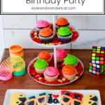 Top US Party Blogger, Style And Wanderlust, shares An Epic 80's Birthday Party for Kids; Neon cupcakes and 80's cookies