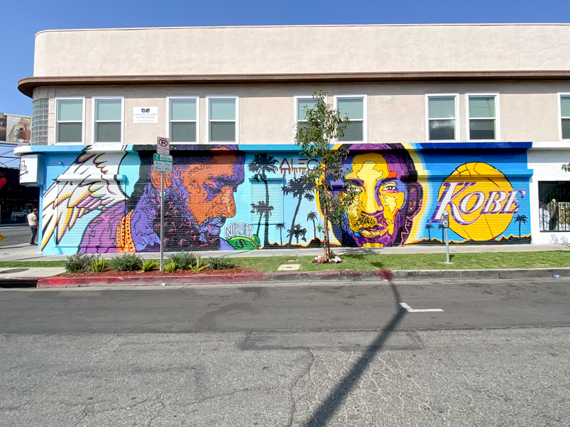 Top US Travel Blogger, Style And Wanderlust shares Must See Murals on Melrose in West Hollywood; Kobe Bryant Mural.
