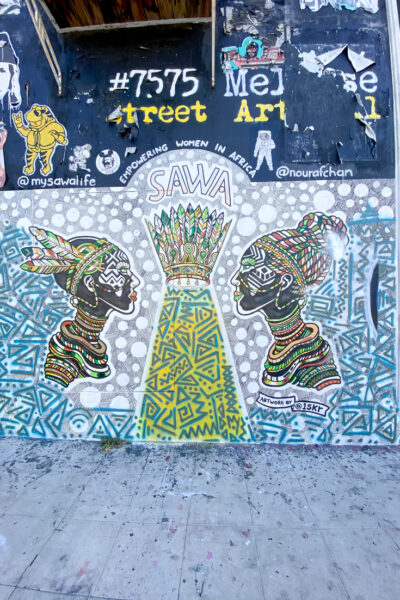 Top US Travel Blogger, Style And Wanderlust shares Must See Murals on Melrose in West Hollywood; street art in Los Angeles California.