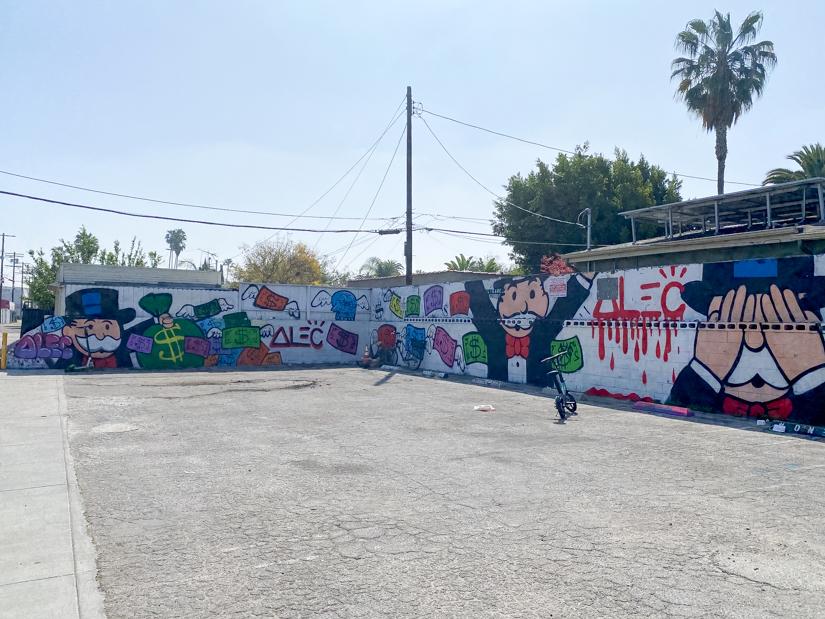 Top US Travel Blogger, Style And Wanderlust shares Must See Murals on Melrose in West Hollywood; Monopoly Mural.