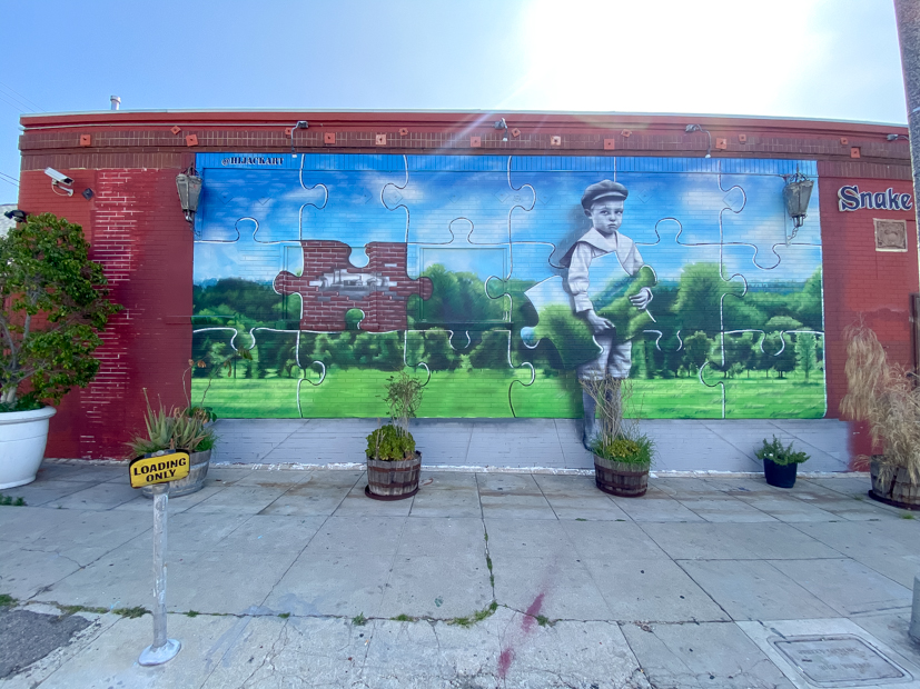 Top US Travel Blogger, Style And Wanderlust shares Must See Murals on Melrose in West Hollywood.