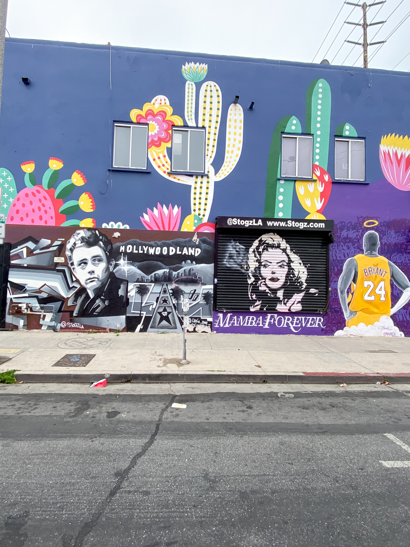 Top US Travel Blogger, Style And Wanderlust shares Must See Murals on Melrose in West Hollywood; Fab Fit Fun Mural.