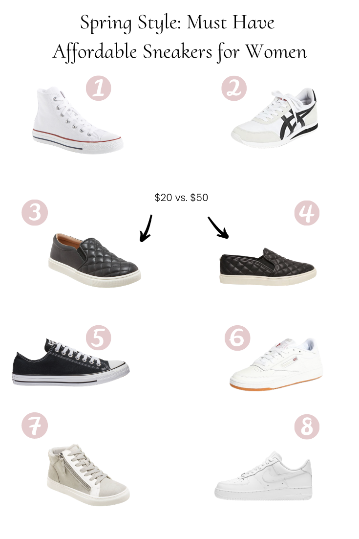 Popular US Style Blogger, Style And Wanderlust, shares Must Have Affordable Sneakers For Women.