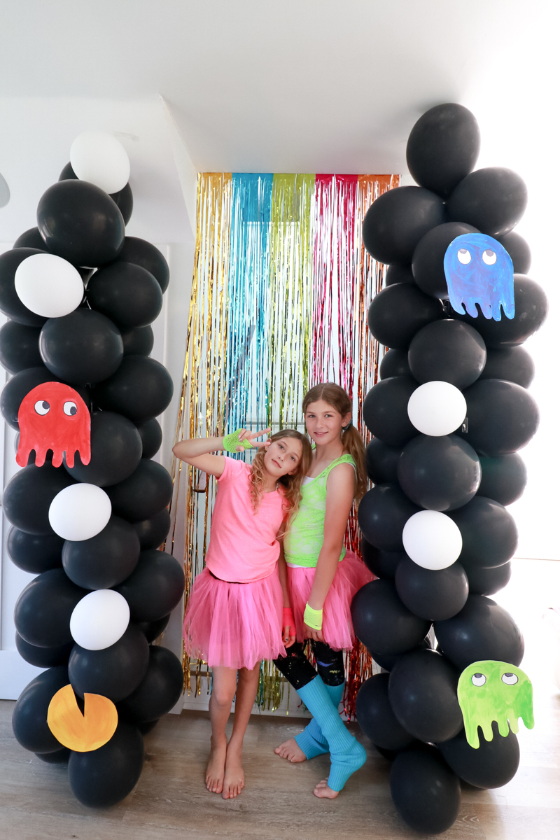 Top US Party Blogger, Style And Wanderlust, shares An Epic 80's Birthday Party for Kids; Bar Area decorated for an 80's Party.